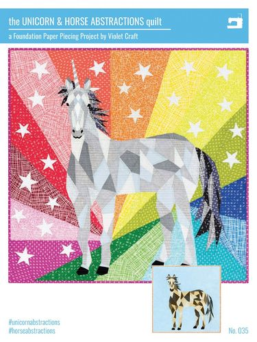 The Unicorn & Horse Abstractions Quilt - Violet Craft