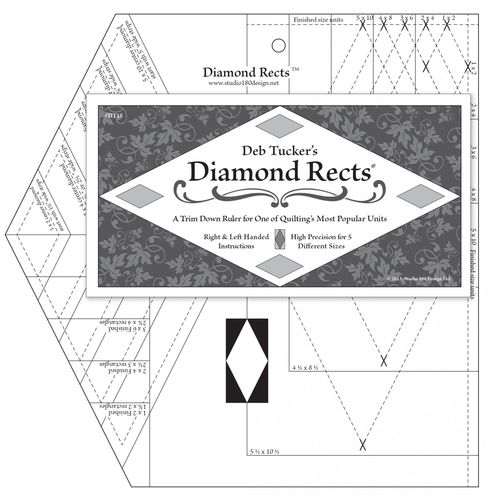 Diamond Rects - Deb Tucker - Lineal