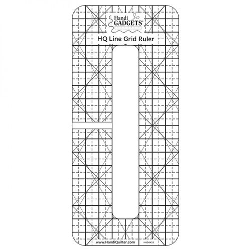 "HQ Line Grid Ruler 6"" x 1/2"""