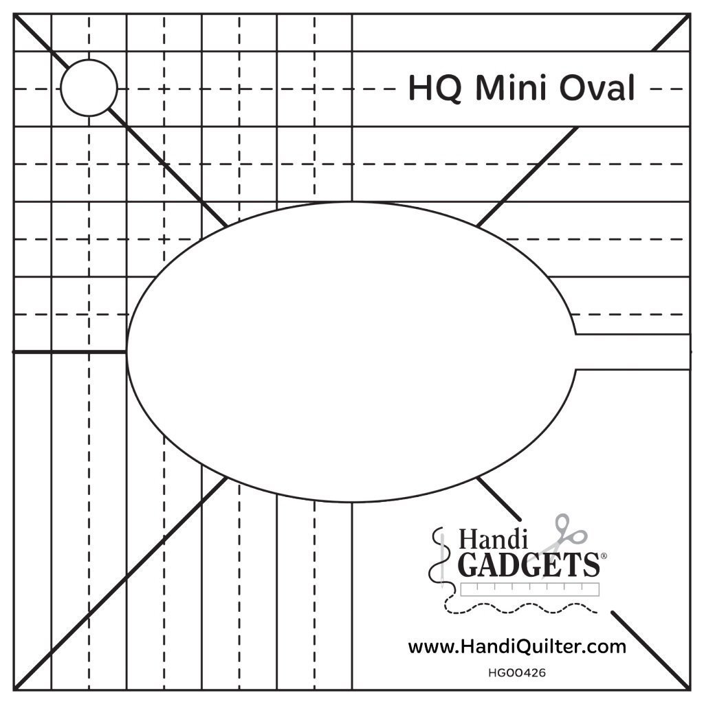 HQ Mini Oval Template Quiltlineal