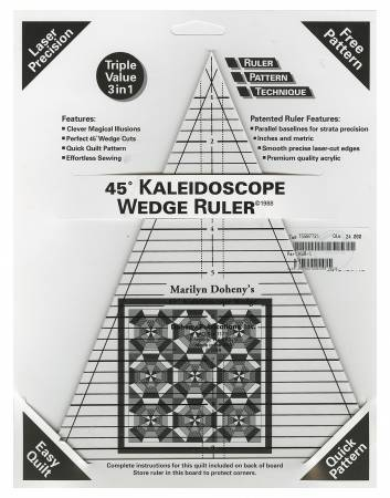 45° Kaleidoscope Ruler Triangle Ruler
