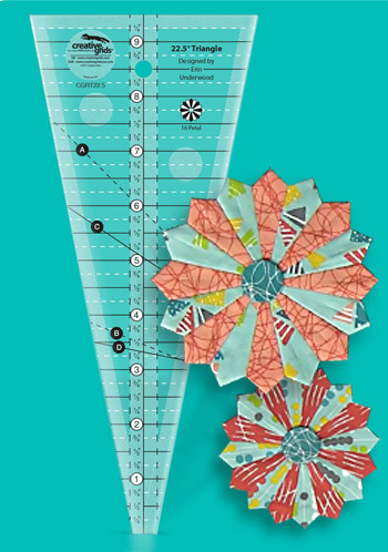 Creative Grids 22,5 Inch Triangle Ruler