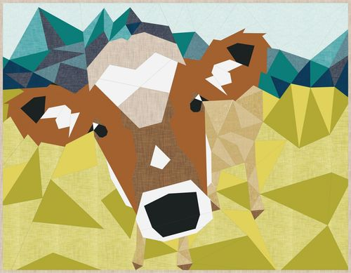 The Cow Abstraction Quilt Anleitung Violet Craft