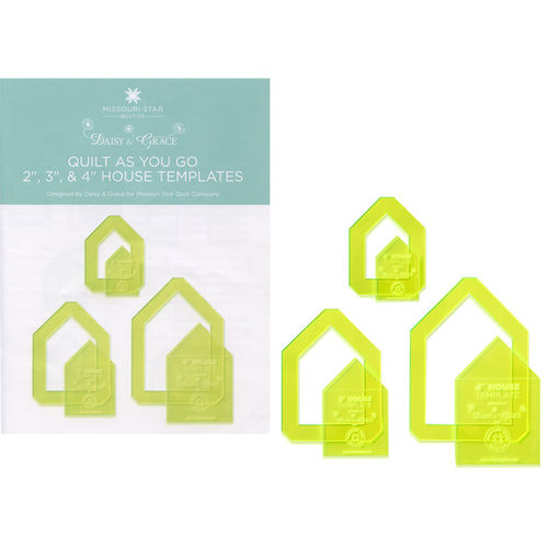 "Quilt As You Go 2"", 3""und 4"" House Template Bundle"