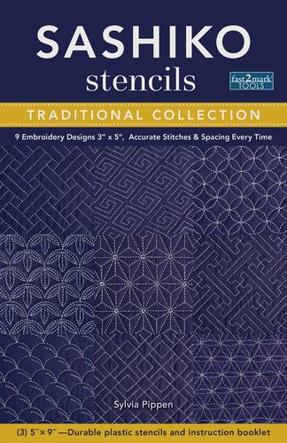 Sashiko Stencils Traditional Collection 9 Muster