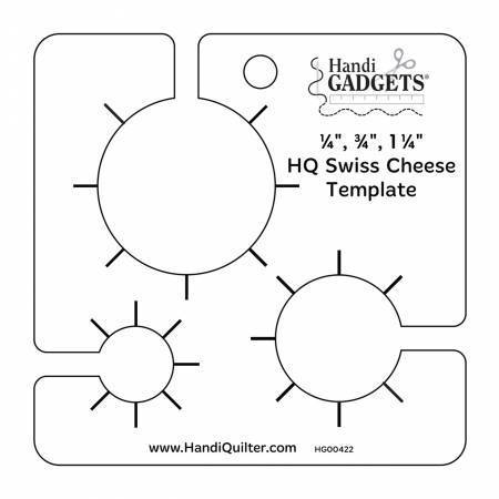 Swiss Cheese Template Quiltlineal Handi Quilter