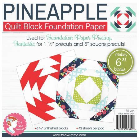 Pineapple Quilt Block Foundation Paper by Sew Emma
